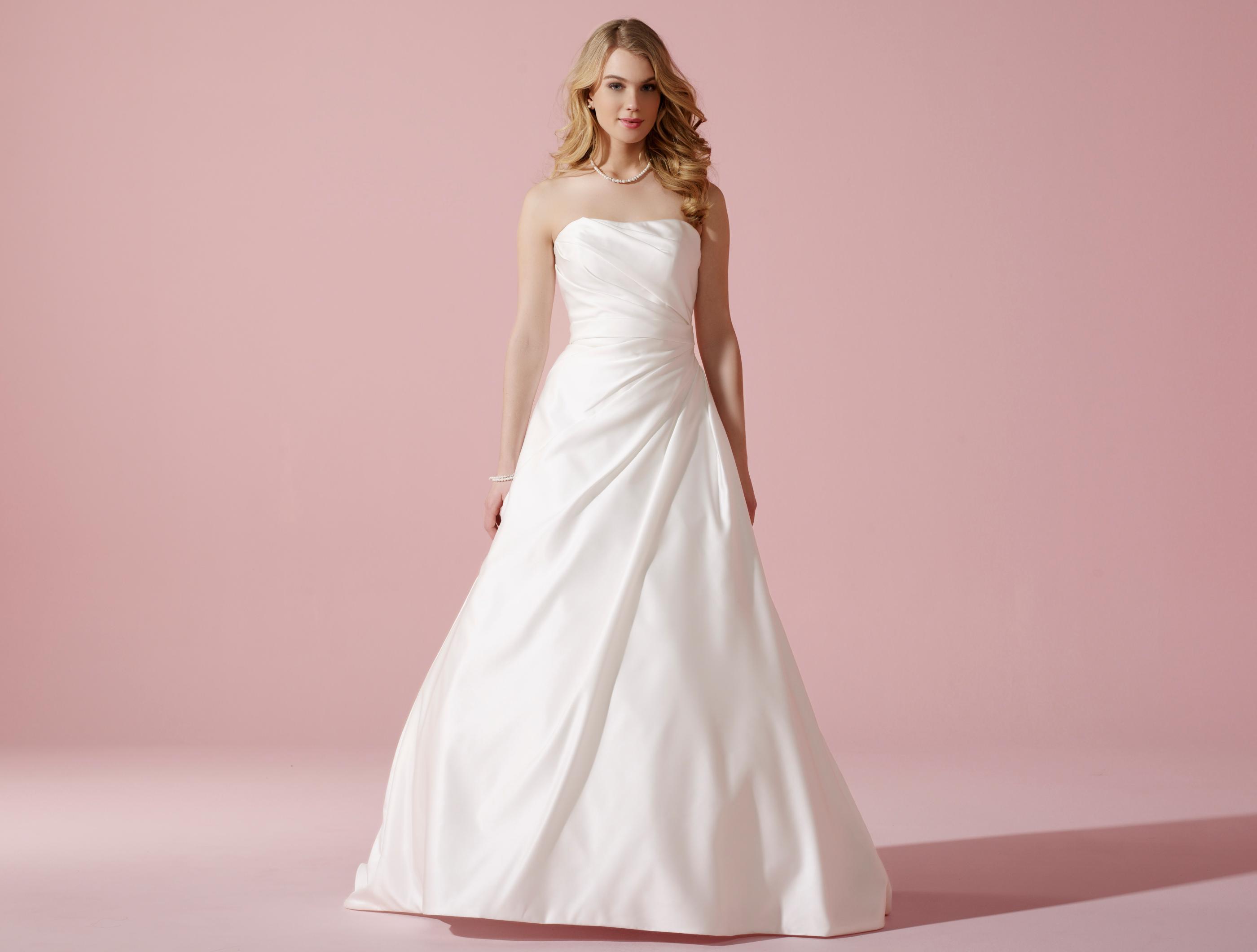 Nobles Satin-Brautkleid mit femininer Schnürkorsage und ...