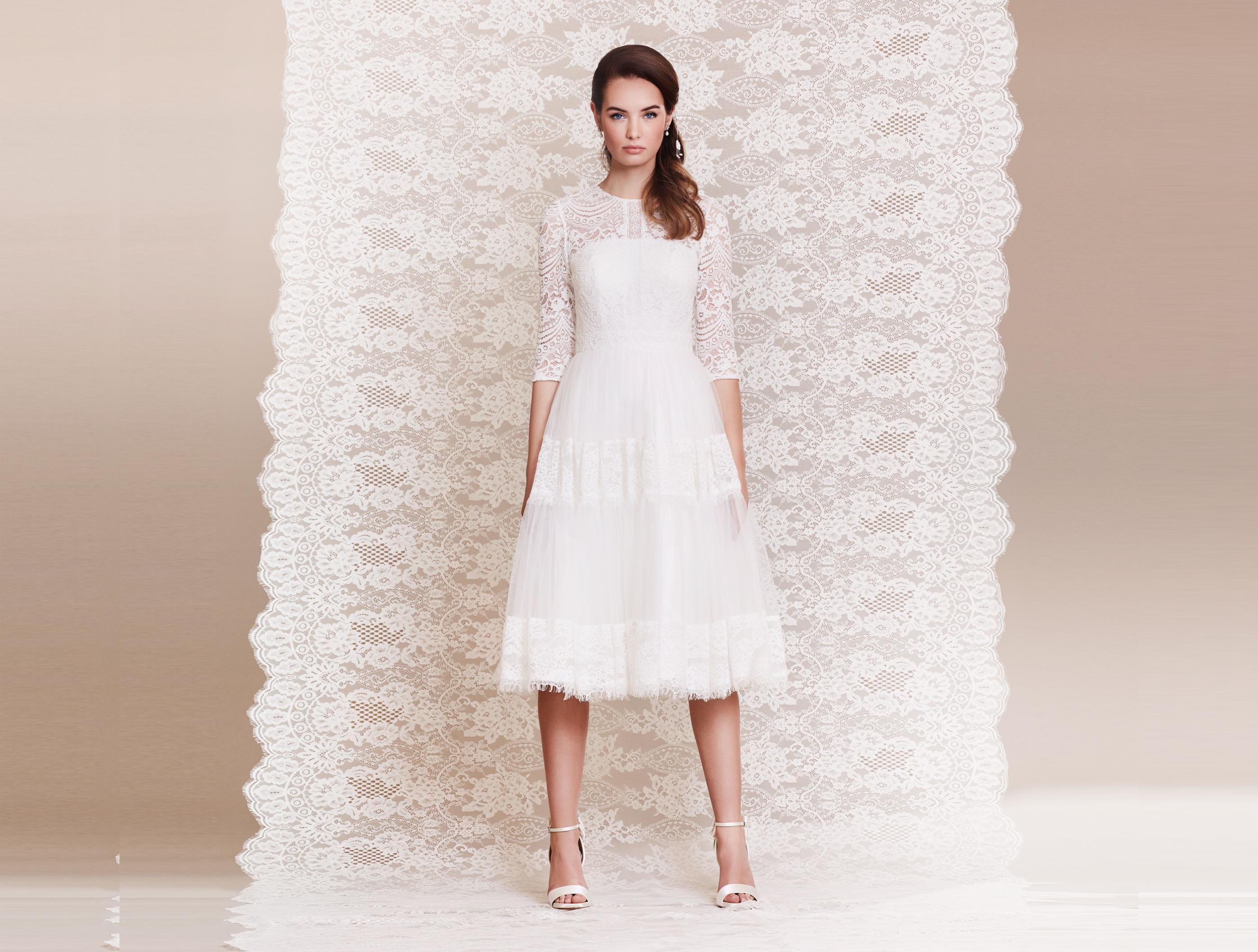 Spitzen-Brautkleid im Boho-Stil