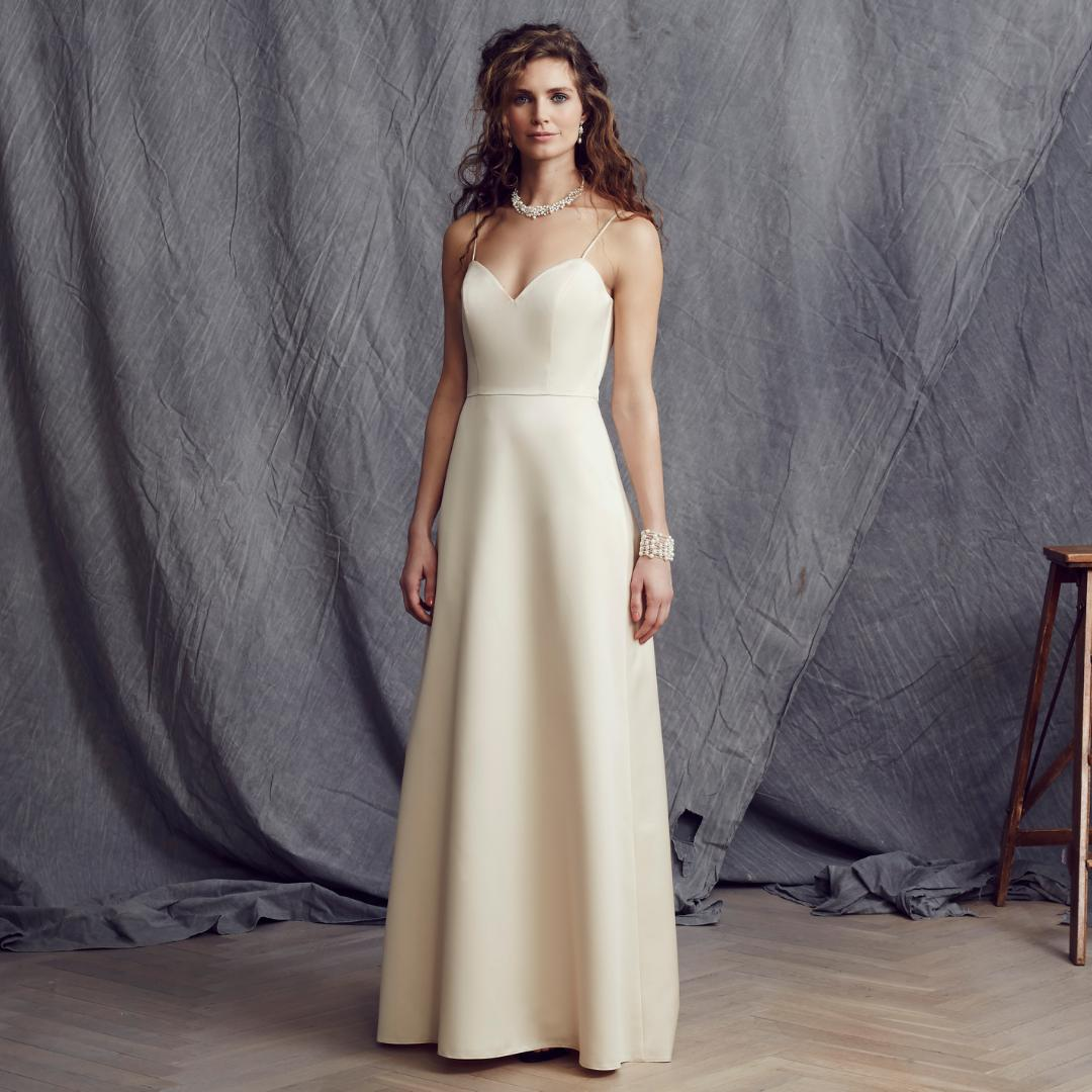 satin-brautkleid in nude